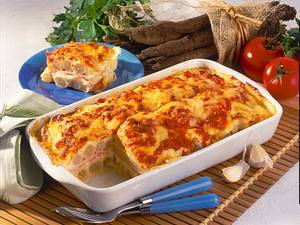 Schwarzwurzel-Lasagne mit Schinken Rezept