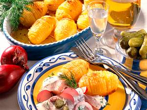Schwedische Back-Kartoffeln mit Matjes Rezept