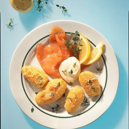Schwedische Kartoffeln mit Lachs Rezept