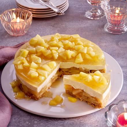 Schwedischer Apfelkuchen ohne Backen Rezept