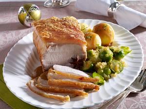 Schweine-Krustenbraten in Lebkuchensoße Rezept