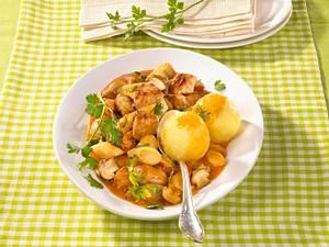 Schweine-Pilz-Gulasch Rezept