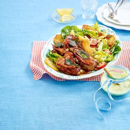 Schweine Saltimbocca à la Romana mit Ceasars Salat Rezept