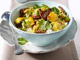 Schweinecurry mit Mango und Reis Rezept