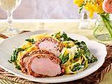 Schweinefilet alla Siciliana mit Spinat-Gorgonzola-Nudeln Rezept