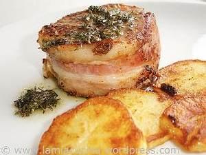 Schweinefilet (Filetto di Maiale) alla Sarda mit Rosmarinkartoffeln Rezept