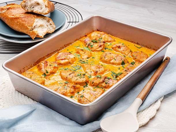Schweinefilet in Curry-Sahne Rezept | LECKER