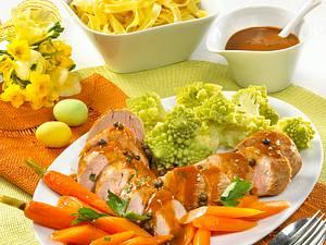 Schweinefilet in Pfeffersoße und Balsamico-Möhrchen Rezept