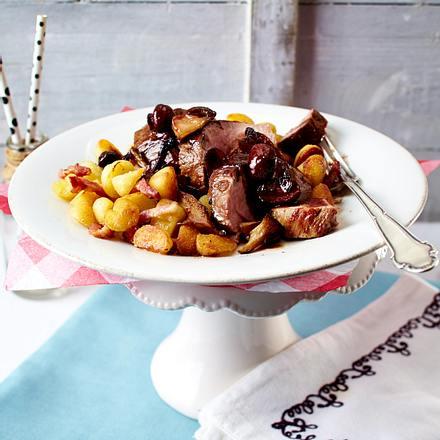Schweinefilet mit Pilz-Marmelade und Gnocchi-Gröstl Rezept