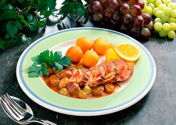 Schweinefilet mit Weintrauben Rezept