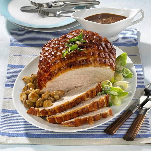 Schweinekrustenbraten in Malzbier-Honig-Soße Rezept