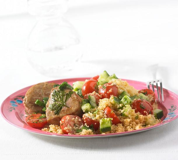 Schweinemadaillons mit Couscous-Salat Rezept
