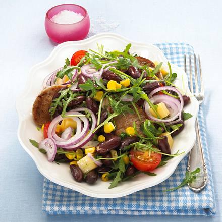 Schweinemedaillons auf Bohnensalat Rezept