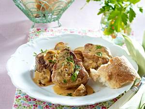 Schweinemedaillons in Pilzrahmsoße Rezept
