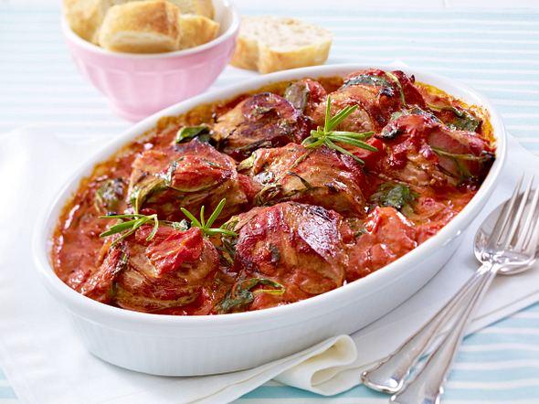 Schweinemedaillons in Spinat-Tomaten-Sahne Rezept
