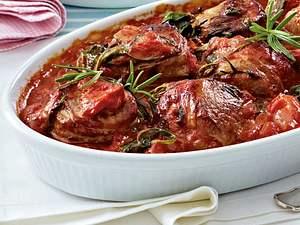 Schweinemedaillons in Spinat-Tomatenrahm Rezept