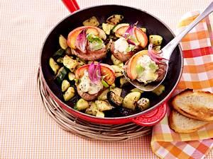 Schweinemedaillons mit Apfel und Gorgonzola Rezept