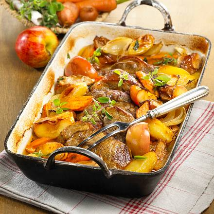 Schweinenacken mit Backhaus-Kartoffeln Rezept