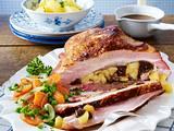 Schweinerippenbraten gefüllt mit Backpflaumen Rezept