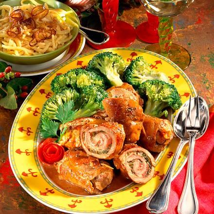 Schweineröllchen mit Broccoli Rezept