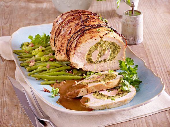 Schweinerollbraten mit Bärlauch-Senf-Füllung Rezept
