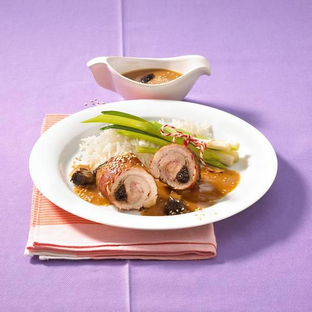 Schweinerouladen in süß-sauer Pflaumensoße Rezept