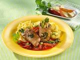 Schweinerouladen mit Curry-Tomatensoße Rezept