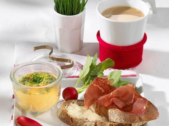 Schweizer Rührei mit Bündner Fleisch Rezept