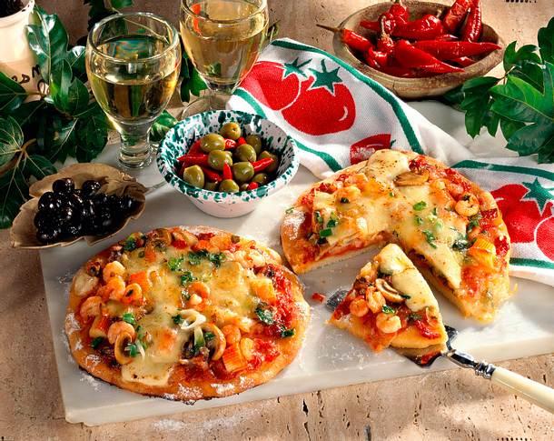 Seafood-Pizza Rezept