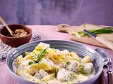 Seelachs-Béchamel-Kartoffeln Rezept