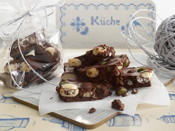 Selbst gemachte Weihnachts-Schokolade Rezept
