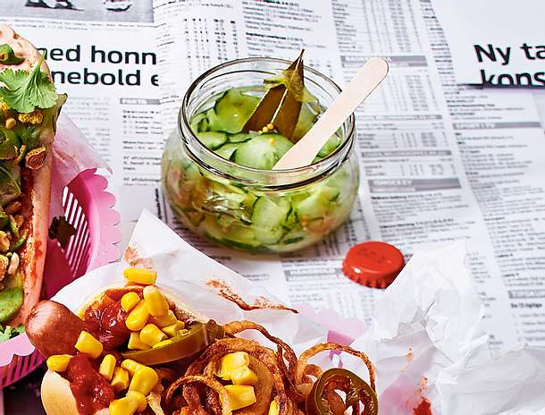 Selbstgemachter dänischer Gurkensalat Rezept