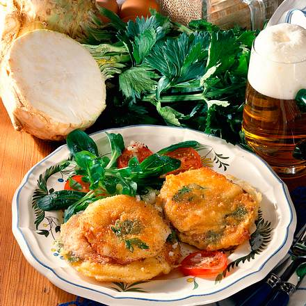 Sellerie-Cordon bleu Rezept