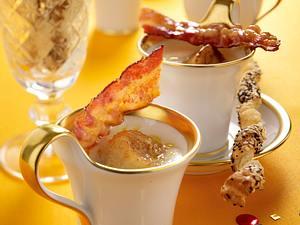 Sellerie-Cremesuppe mit Jakobsmuscheln und Speck Rezept