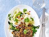 Sellerie-Schnitzel mit Sesampanade und Mini-Pak Choi Rezept