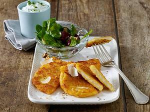Sellerieschnitzel mit Parmesan-Panade Rezept