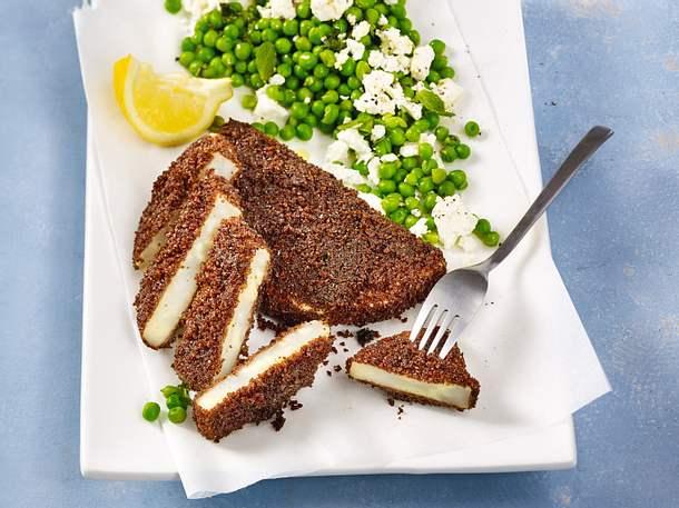Sellerieschnitzel mit Pumpernickel-Panade Rezept