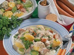 Senf-Bechamel-Kartoffeln Rezept