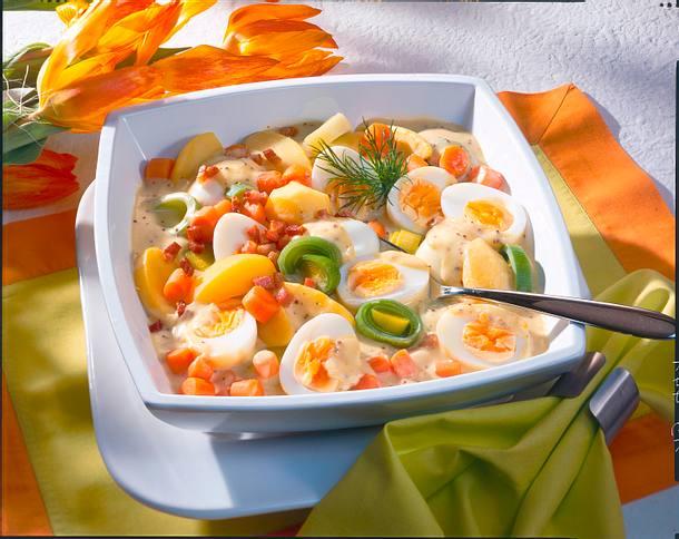 Senf-Eier-Ragout mit Gemüse Rezept