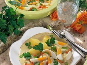 Senfeier mit feinem Suppengrün Rezept