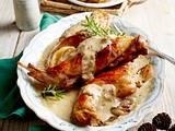 Senfkaninchen mit Rosmarin-Kartoffeln Rezept