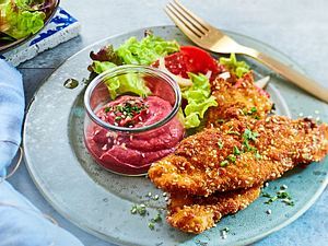Sesam-Chicken mit Rote-Bete-Creme Rezept