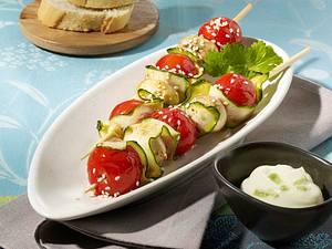 Sesam-Gemüse-Spieße Rezept