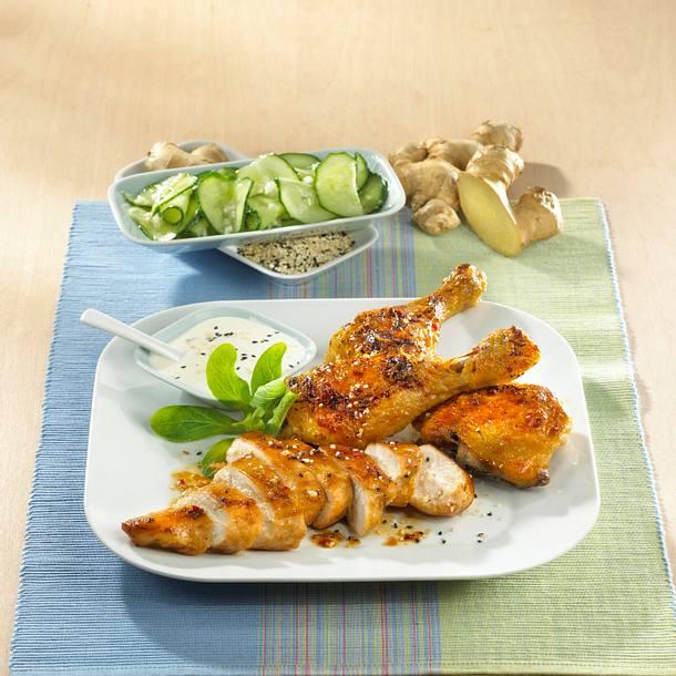 Sesam-Ingwer-Hähnchen Rezept