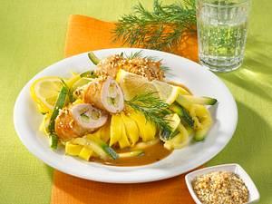 Sesamputen-Involtini mit Zucchini Rezept