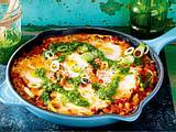 Shakshuka mit Champignons und Pesto Rezept-F8434701