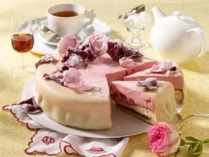 Sherry-Himbeer-Torte mit Marzipandecke Rezept