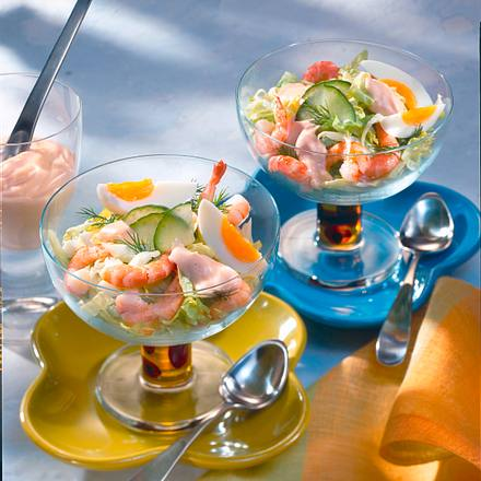 Shrimps-Cocktail mit Ei Rezept