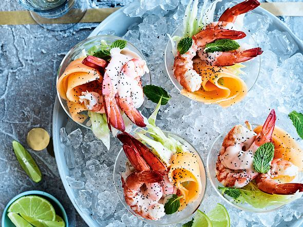 Shrimpscocktail on the rocks Rezept