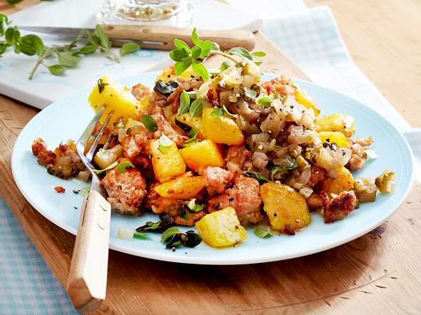 """Simply yummy""-Kartoffel-Mett-Pfanne Rezept"
